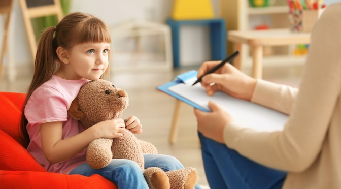 Cute,Little,Girl,At,Child,Psychologist's,Office